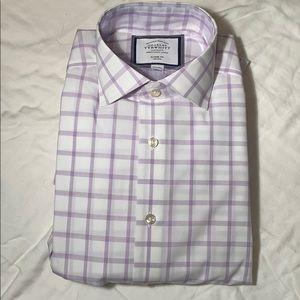 Charles Tyrwhitt Dress Shirt - Purple/White - NWT